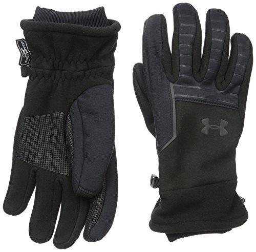 Under Armour Men's WINDSTOPPER Run 2.0 Gloves, Black (001)/Black, Large