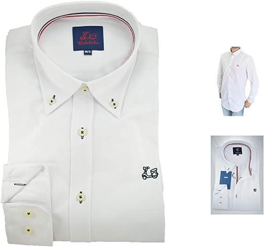 Ridebike, Vespa, Camisa Blanca. Ligero Slim fit, realza la Figura.: Amazon.es: Ropa y accesorios