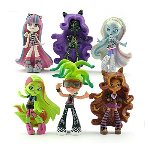 [6pcs/set New Model Dolls Toy Gift for Children] (Monster High Draculaura Ghouls Rule Costume)