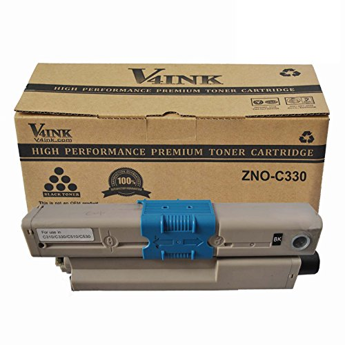 V4INK New Compatible OKI 44469801 Toner Cartridgee-black (Oki C330) for OKI C310/c330/c510/c530/mc361 Mfp/mc561 MFP Series