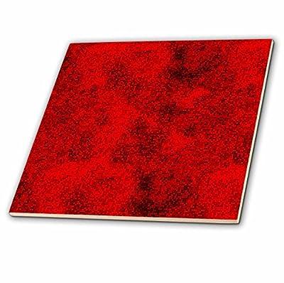 3dRose ct_66006_4 Red and Black Digital Squares-Ceramic Tile, 12-Inch