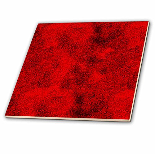 Red Floor Tiles (3dRose ct_66006_4 Red and Black Digital Squares-Ceramic Tile,)