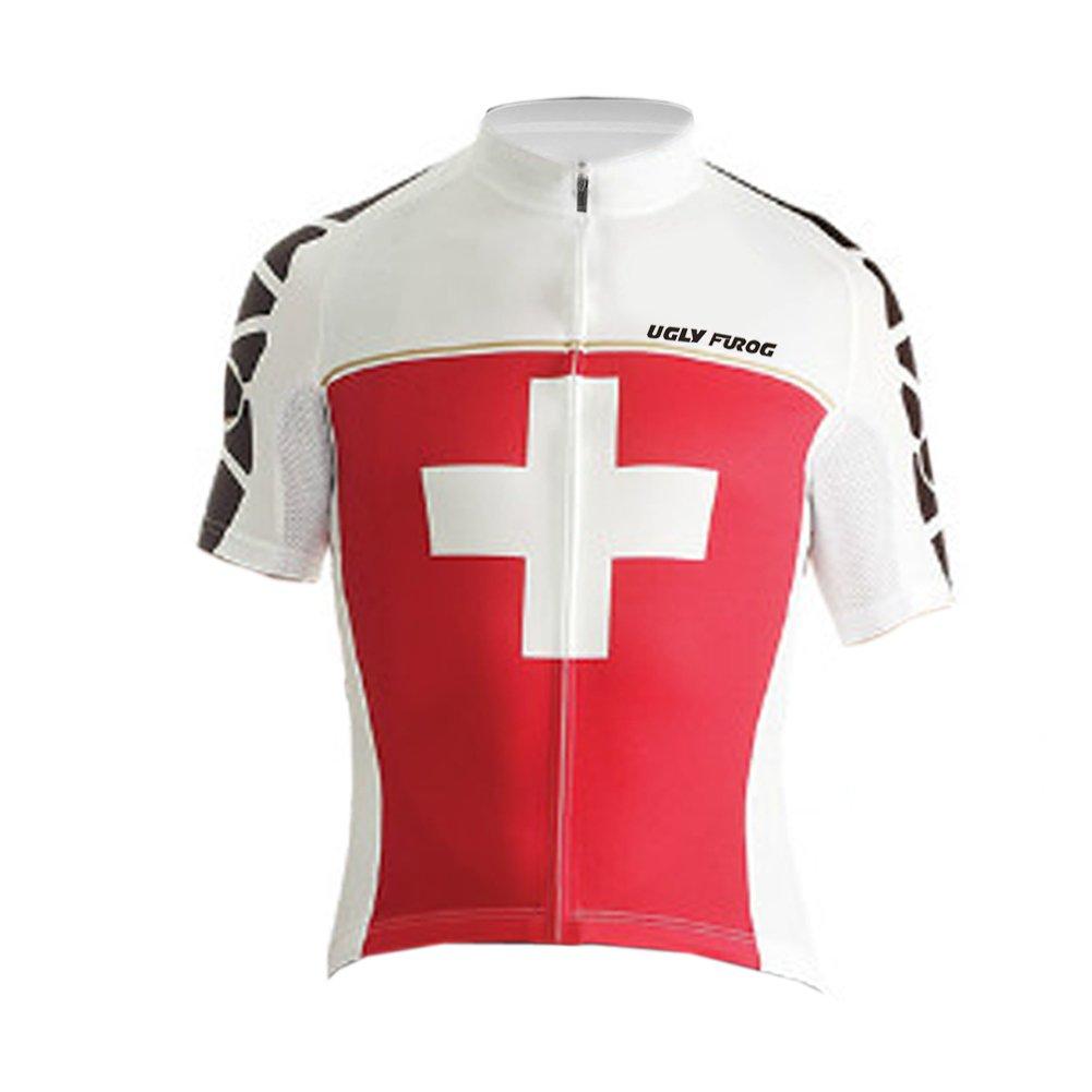 Uglyfrog Bicycle Wear Herren Trikots & Shirts Bekleidung Radsport Sommer Style Fahrradshirts Fahrradbekleidung für Männer mit Elastische Atmungsaktive Schnell Trocknen Stoff