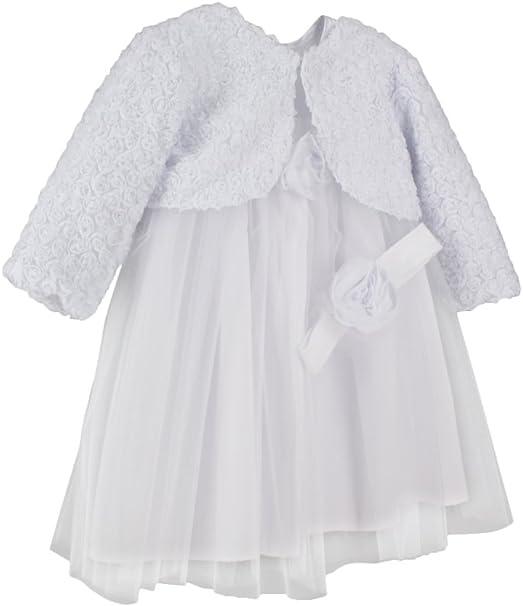 Brums Baby-M/ädchen Abito Jacquard Taufbekleidung