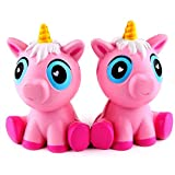 mighty pop popcorn oil - E-SCENERY 14cm Lovely Pink Unicorn Squishy Toys, Squishies Stress Toys Squishy Kawaii Squishy Stress Reliever Anxiety Toys Slow Rising Cream Scented Toy For Children Adults