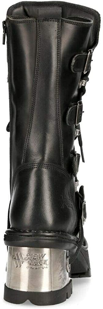 NEWROCK 373-S33 Ladies Black 100/% Leather Boots Goth Punk Emo Rock Biker Boots