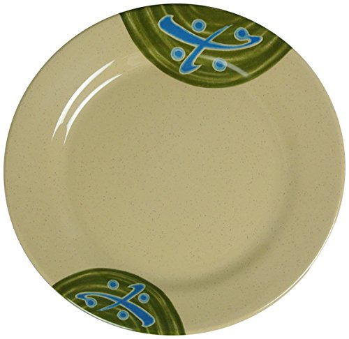 Yanco JP-1009 Japanese Round Plate, 9'' Diameter, Melamine, Pack of 24 by Yanco