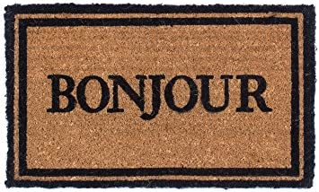 Coco Mats N More Bonjour Design Coco Doormats 18 x 30 x 1 Inch Thick
