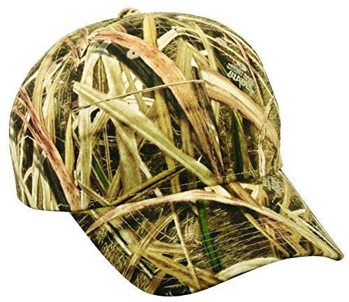 Mossy Oak Adjustable Plastic Snap Closure Blank Cap, Mossy Oak Shadow Grass Blades Camo