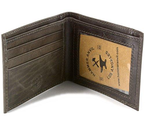 FID Blocking Genuine Leather Slimfold Wallet Gray (Mens Anvil)