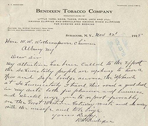 rudolph-h-bendixen-autograph-letter-signed-11-22-1915