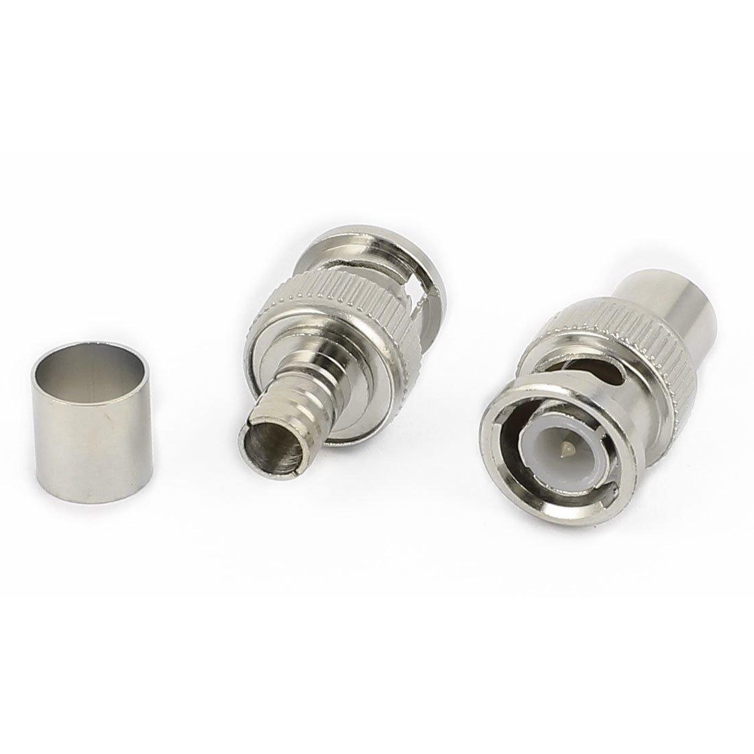 Amazon.com: eDealMax 10 Establece Crimp En Tipo 3 Conectores adaptador de Cable coaxial RG59 BNC Macho Piezas: Electronics
