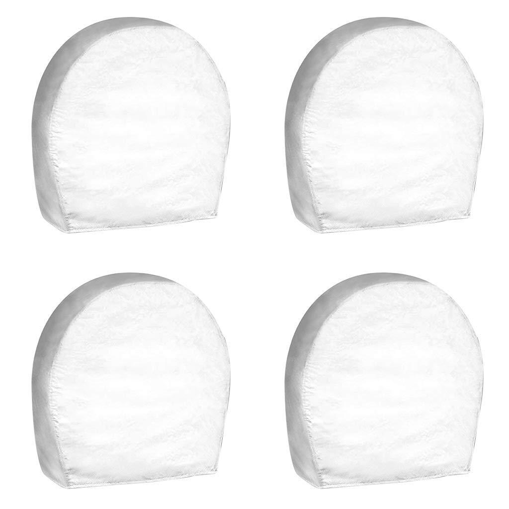 PrimeShield Set of 4 RV Wheel Cover White for 30-32 Wheel Diameter