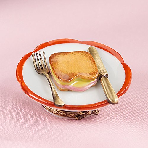 Authentic French Hand Painted Ham and Cheese Toast Box on - French Ham Cheese