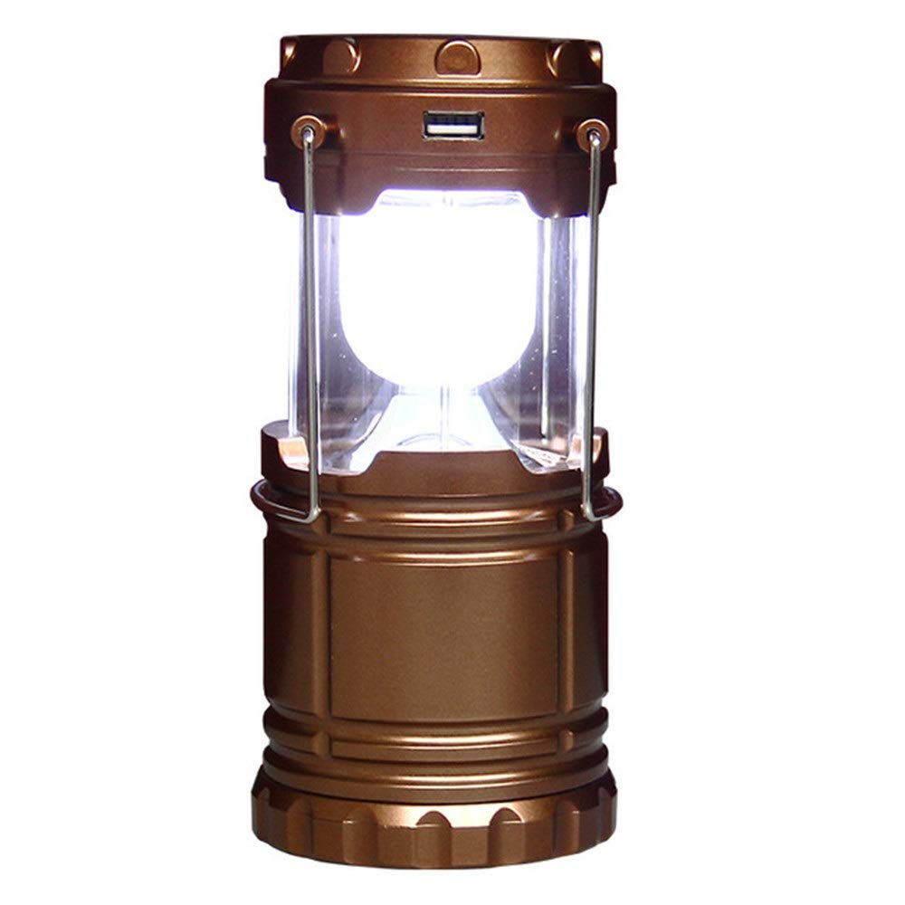 YsinoBear LED Camping Lantern for Hurricane, Emergency, Storm, Outages Outdoor Portable Lighting (Color : Gold)