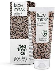 Australian Bodycare Gezichtsmasker 100ml – Tea Tree Olie gezichtsmasker voor Puistjes & Mee-eters - Exfoliërend gezichtsmasker geschikt Voor Alle Huidtypes – Vegan gezichtsmasker met Australische Tea Tree Olie die door farmaceuten is goedgekeurd.
