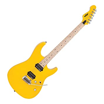 Vintage v6 m24dy guitarra eléctrica Daytona Yellow: Amazon.es ...