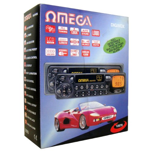 Omega 12070 Car Stereo Cassette Player 4 Channel Output LCD Display AM/FM...