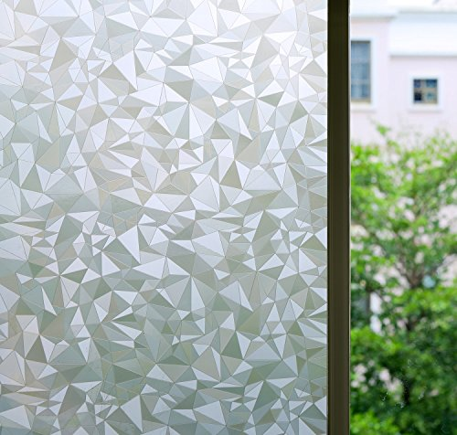 "Bloss 3D No Glue Stati Cling Window Films Privacy Cut Glass Sticker for Bathroom Office Kitchen Window Decor 17.7""x 78.7"""