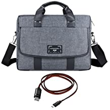 """Vangoddy Chrono Grey Universal Messenger Bag Tote for Lenovo Flex 3 