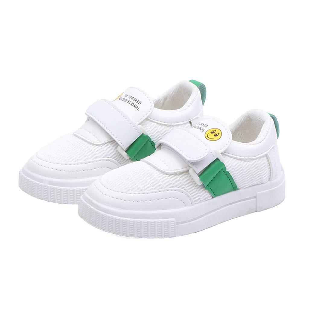 Kimanli Toddler Infant Kids Baby Boys Girls Cartoon Sport Mesh White Shoes Sneakers