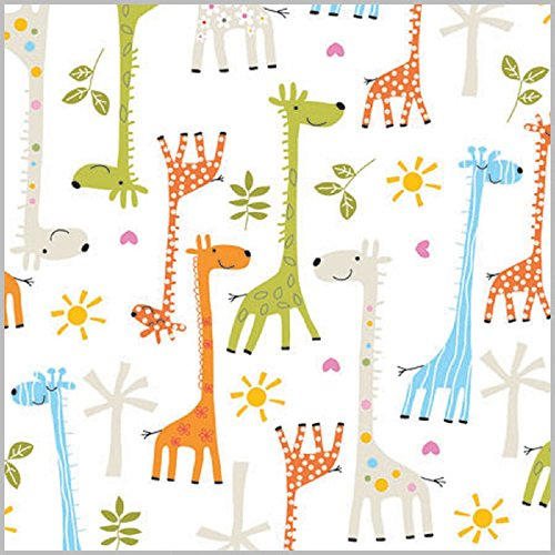 Happy Giraffe Baby Shower Gift Wrap Flat Sheet - 24
