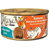Muse by Purina Natural, Grain Free Pate Wet Cat Food, Chicken & Carrot Recipe - (24) 3 oz. Cans Larger Image
