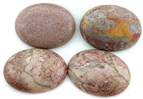 ONE 40x30 40mm X 30mm Fossil Agate Cab Cabochon Gem Stone Gemstone Cm127