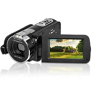 GordVE Video Camera Camcorder HD 1080P 24.0MP 2.7 inch LCD 270 Degrees Rotatable Screen 16X Digital Zoom Digital Camera Recorder