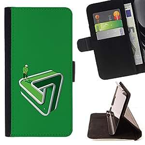 "For Samsung Galaxy S6 Edge Plus / S6 Edge+ G928,S-type Divertido Golf Putting green Paradox"" - Dibujo PU billetera de cuero Funda Case Caso de la piel de la bolsa protectora"