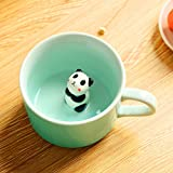 Panda Surprise 3D Coffee Mug Cute Cartoon Animal Ceramics Cup Baby Animal Inside, Best Office Cup & Birthday Gift 8 OZ (Panda)