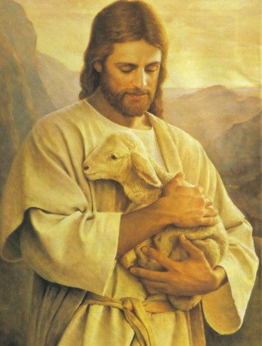 BEAUTIFUL JESUS CHRIST PORTRAIT GLOSSY POSTER PICTURE PHOTO lord god cross