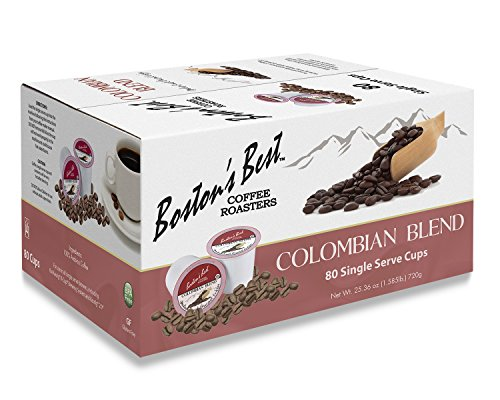 Boston's Best Single Serve K-Cup Coffee, Colombian Blend, 80 Count