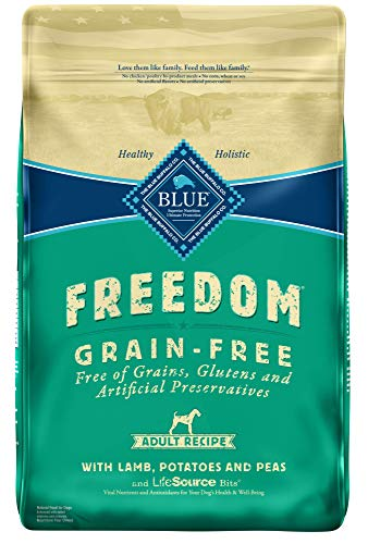 Blue Buffalo Freedom Grain Free Recipe for Dog, Lamb Recipe, 24 lb