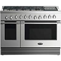 DCS RDV2486GLN 48 Stainless DuDCS RDV2486GLN 48 Professional Built-In Freestanding Stainless Steel Dual-Fuel (Natural Gas) Range