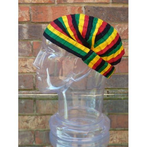 Medium Headband Cotton Rasta Reggae Expandable Handwoven