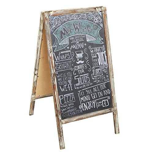 Freestanding Sidewalk Frame Chalkboard Sandwich