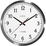 La Crosse Technology 404-1235UA-SS 14 Inch UltrAtomic Analog Stainless Steel Wall Clock