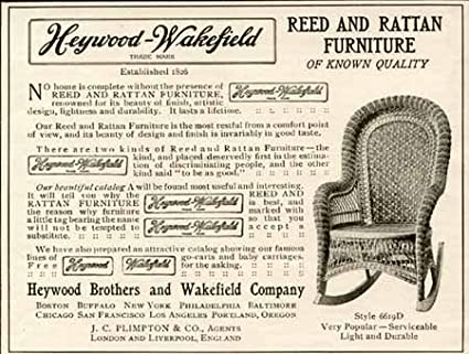 Surprising Amazon Com 1905 Heywood Wakefield Advertisement For Reed Ncnpc Chair Design For Home Ncnpcorg