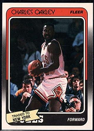 ee9db4424 Amazon.com  Basketball NBA 1988-89 Fleer  18 Charles Oakley Knicks ...