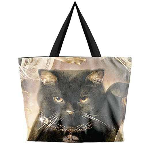 Bags cat handbag Printing Women's Shopping Black Fashion Shoulder Belsen fxn8x