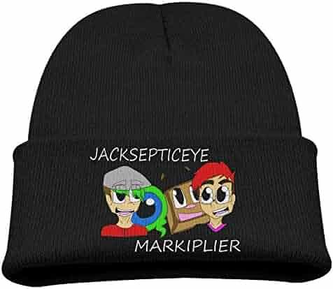 f9f9442f0f013 Karenosi Markiplier and Jacksepticeye Warm Winter Hat Knit Beanie Skull Cap  Cuff Beanie Hat Winter Hats