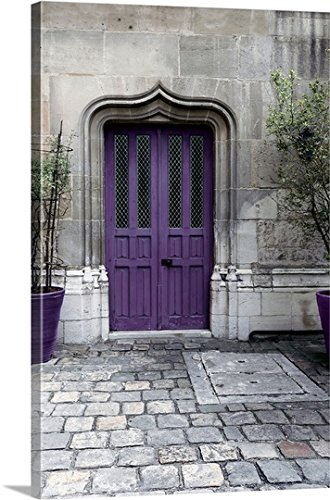 Tracey Telik Gallery Wrapped Canvas Entitled Purple Door IV