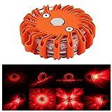LED Road Flare Sunsbell LED Safety Flare Flashing Warning Light Roadside Flares Emergency Disc Beacon Red Light