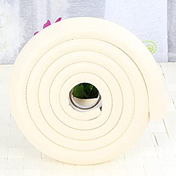 2x2M//13ft Khaki Table Edge Guard L-Shape Corner and Edge Cushion Protector for Furniture With Right-Angle