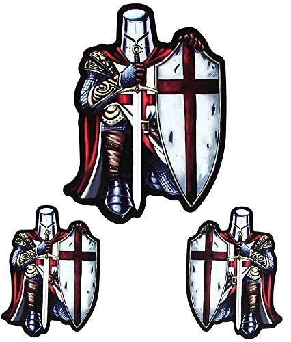 (Red Knight Crusader Sticker Peel and Stick Vinyl Sticker)