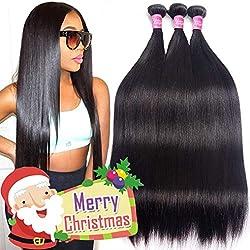 Gracelength Brazilian Hair 3 Bundles 20 22 24 Inches 8A Virgin Unprocessed Straight Human Hair Natural Black Brazilian Straight Hair