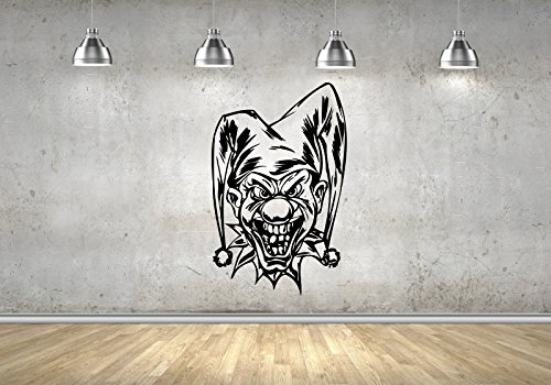 Evil Clown Scary Jester Art Decals Wall Stickers Mural Vinyl M0069]()