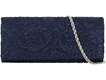 Accessorize-me Lace Overlay Evening Clutch Bag Handbag ...