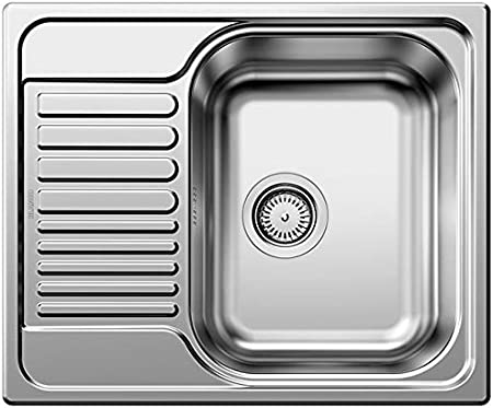 BLANCO TIPO 45 S Mini Lavabo sobre-encimera Rectangular Acero inoxidable - Fregadero (Lavabo sobre-encimera, Rectangular, Acero inoxidable, Acero inoxidable, 1 senos, Rectangular)